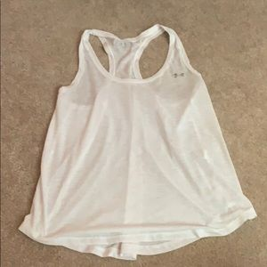 Under Armour white tank, small, flowy